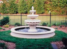 """8'6"""" Fountain Pool with Three Tiered Floral Fountain"""