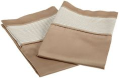 Wellesley Collection 300-Thread-Count Cotton King Pillow Case Set, Taupe by Elite Home. Save 49 Off!. $15.24. 1-ply sateen; provides a flat and lustorous fabric with a smooth surface. 100-Percent Cotton; 300-thread-count. Machine wash cold, tumble dry low, remove promptly; made in India. Set contains 2 king pillow cases. 100% Cotton. 2 pillow cases have a turn back hem treatment. Wellesley printed stripe hem pillow case set is a great addition to any bedroom. The 100 percent cotton…