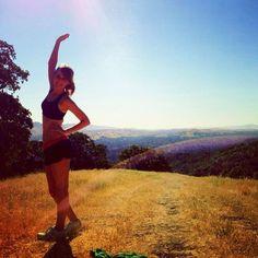 #yoga while climbing Mt Diablo, CA.   Photo credit: hodrobinak