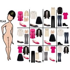 15 Item Capsule Wardrobe for Pear Shape