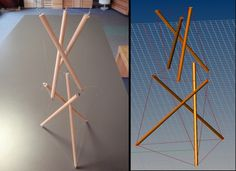 Tensegrity structures - Grasshopper