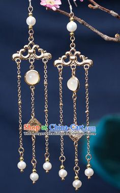 Handmade Chinese Classical Hanfu Chalcedony Earrings Ancient Palace Ear Accessories for Women rental set traditional buy purchase on sale shop supplies supply sets equipemnt equipments Bride Earrings, Long Tassel Earrings, Pink Earrings, Leaf Earrings, Crystal Earrings, Korean Accessories, Ear Jewelry, Hanfu, Handmade