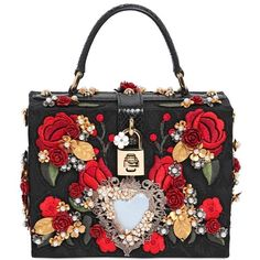 DOLCE & GABBANA Embellished Brocade Dolce Bag ($4,896) ❤ liked on Polyvore