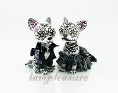 American pitbull wing wedding handmade skull dogs by iampleasure