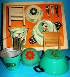 Vintage Laundry child's toy playset