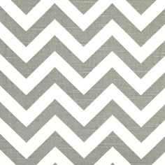 I cannot wait to make my own curtains!  Zig Zag Ash White Slub Stripe Premier Print Drapery Fabric
