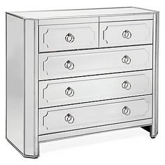 Z Gallerie - Simplicity Mirrored 5 Drawer Hall Chest $899