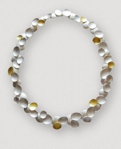Petal Necklace, 18 ct Gold & Silver by Kayo Saito, whose work is influenced by plants & organic forms. Through carefully chosen materials & designs, Saito creates unusual delicateness & sculptural forms in the shape of precious jewellery / http://kayosaito.com