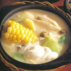 Ajiaco de Pollo is a delicious Colombian Food. Learn to cook Colombian Food Recipes and enjoy Traditional Colombian Food. My Colombian Recipes, Colombian Cuisine, Clean Recipes, Soup Recipes, Recipies, Healthy Recipes, Latina Recipe, Columbia Food, Gastronomia