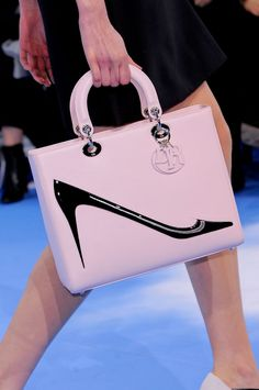 Christian Dior Autumn/Winter 2013 Collection. Ohhhhhh this is all ME. Cute shape, pink, with a shoe on it!