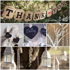 Wedding garlands and place setting ideas