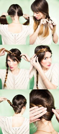 Heidi Braids in Crown   #hair #tutorial