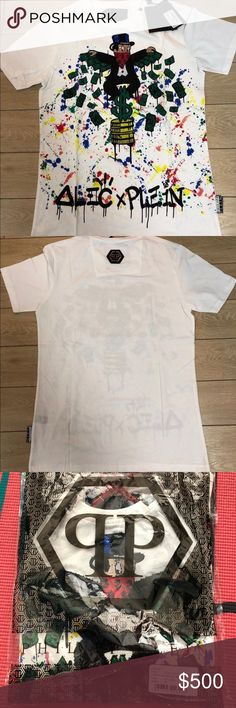"Philipp Plein Runway Make Money ""Monopoli AL"" Philipp Plein Runway Make Money White ""Monopoli AL"" $765 Men Size Medium Shirt  100 percent authentic! Great condition! Please look at the pictures! If anymore pictures are needed or questions drop a direct message! Philipp Plein Shirts Tees - Short Sleeve"
