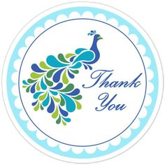 free printable #peacock thank you tag