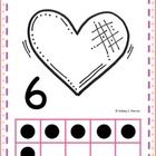 1-10 Ten Frame Counting Posters 1-10 Ten Frame Working Mats 1-10 Ten Frame Cards  Great to use with The Kissing Hand and Valentine's Day!...