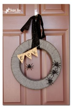 Sugar Bee Crafts: sewing, recipes, crafts, photo tips, and more!: Spider Wreath (interchangeable)