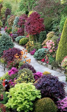 Spring upper garden at the Four Seasons Garden in Walsall, West Midlands, England • photo: Marie and Tony Newton / Four Seasons Garden on Flick