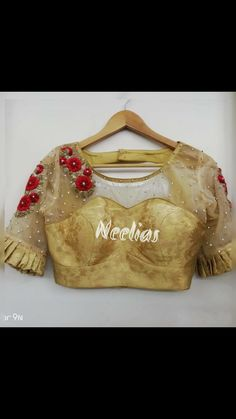 Sewing Clothes Jackets Wearable Art 19 New Ideas Netted Blouse Designs, Saree Blouse Designs, Blouse Styles, Dress Styles, Blouse Desings, Net Blouses, Choli Designs, Patterned Jeans, Blouse Models