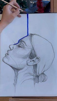 Art Drawings Beautiful, Art Drawings Sketches Simple, Amazing Drawings, Art Tutorials, Creative Art, Cute Art, Painting & Drawing, Art Reference, Watercolor Paintings
