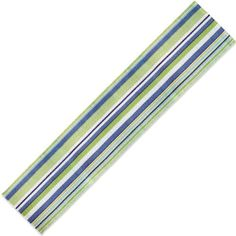 Extra Weave USA Cottage Stripe 13-Inch by 78-Inch Table Runner in Blue, Teal, White and Lime by Extra Weave USA. $27.99. Machine wash separately in cold water, gentle cycle; professional cleaning recommended due to size and weight. Table runner by Extra Weave. 100% Cotton. Made of hand-woven, 100-percent cotton. 13 By 78-inch; made in India. Casual, everyday stripe pattern. Extra Weave's Cottage Stripe Table Runner measures 13 by 78-inch. Made of cotton, this ru...