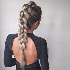 Instagram: @beyondtheponytail / how beautiful is this 3 Strand Pull Through Braid created by the one and only @n.starck @n.starck ✨ #pullthroughbraid #beyondtheponytail