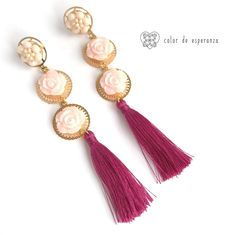 Aretes Flamenco Tassel Necklace, Jewellery, Photo And Video, Diy, Inspiration, Instagram, Fashion, Crafts, Handmade Accessories