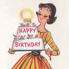 New Birthday Humor Cards Parties Ideas Vintage Birthday Parties, Happy Birthday Vintage, Retro Birthday, Happy Birthday Greetings, Nice Birthday Messages, Funny Birthday Cards, Birthday Images, Birthday Quotes, Humor Birthday