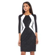 Chaya+Colorblock+Sheath+Dress