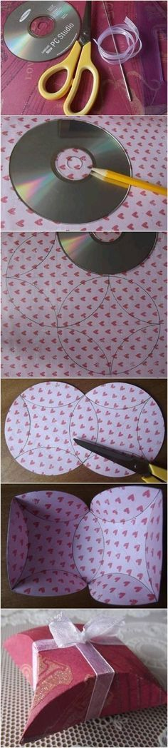 How to Make Easy Gift Package with CD #craft #gift_packing #CD