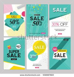 template collection and social media sales banners. Vector illustrations for website, mobile website banners, posters, email, newsletter designs, ads and promotional material.