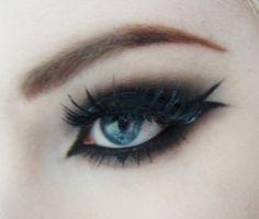 Having fun with eyeliner