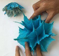 Origami Crumpling Origami Shapes, Hanukkah, Wreaths, Decor, Decoration, Door Wreaths, Deco Mesh Wreaths, Decorating, Floral Arrangements