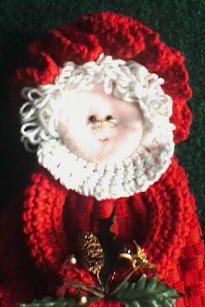 Mrs. Santa Towel Ring