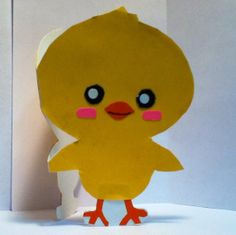 Handmade Kawaii Chick Card Cardstock by justcreativecards on Etsy, $3.50