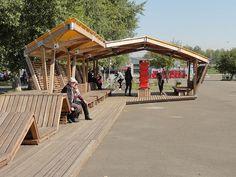"The riverside terrace on Tatyshev Island / OOO ""ADM"""