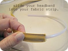 Tutorial on how to cover headbands, plus some fun things to make them fancier