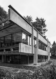 "new-brutalism: "" Bernat Klein Studio, High Sunderland near Selkirk, Peter Womersley Photo: Simon Phipps "" Concrete Architecture, Constructivism, E Type, Brutalist, Amazing Art, My House, Stairs, Mansions, Studio"