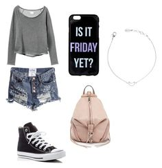 """""""Casual outfit"""" by natalie001 on Polyvore featuring RVCA, Converse and Rebecca Minkoff"""