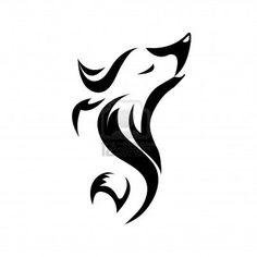 Fox Tattoo Stock Photo