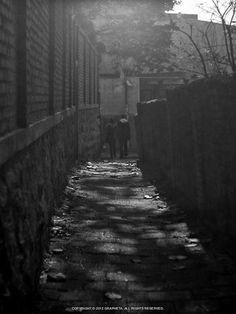 좁은 골목길을 무덤덤하게 걷고 있는 연인. 걸어간 길위에 비추는 햇살을 보여주고 싶었다.