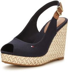 Tommy Hilfiger Elena Espadrille Wedge Sandal. A lesson in nautical chic - these…