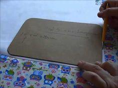 Neste vídeo ensino como fazer o molde da necessaire retangular, este é o 2º…
