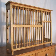 A Georgian Pine Plate Rack - Antiques Atlas & English pine plate and platter rack from Kim Fiscus Antiques. 55 ...