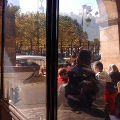 Quick cafe before starting a Visit with a glorious sun #paris #Ilovemyjob