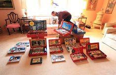 Dave Frieder, que vive en Closter, N.J., es un ávido coleccionista de Erector Sets. Este año es el centésimo aniversario de cuando los juguetes populares salieron al mercado.