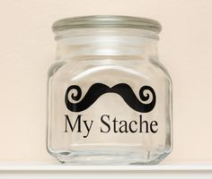 My Stache - Mustache Money Jar - Curly Handlebar Moustache. $15.00, via Etsy.