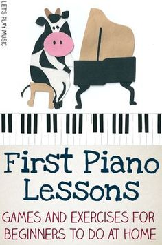 First Piano Lessons for Kids - Let's Play Music - Games and Exercises that can be done on a keyboard at home to help get started with learning the piano