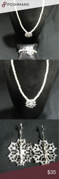 "Faux Pearl Bundle Great Stocking Stuffers  This lot consists of a set of faux fashion pearls   1- Necklace (approx. 18"" in length)  1- Bracelet  (approx. 7 1/2"" in length)  2- Silver tone add ons . Macy's Jewelry"