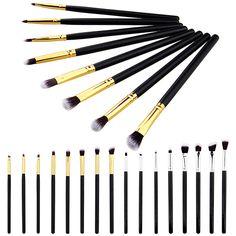 8 Stks/set Zilveren/Gouden Pro Make Borstels Maken up Cosmetica Borstel 6 Eyeliner oogschaduw Wenkbrauw Lip Borstel cosmetische Gereedschap