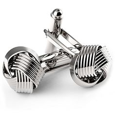 Uhibros Love Knot Cufflinks Stainless Steel Tuxedo Shirt Cuff Links Silver Woven for Men Business Gift * Check this awesome product @…
